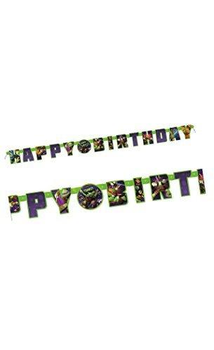 Nickelodeon Teenage Mutant Ninja Turtles Birthday Letter Banner - 1