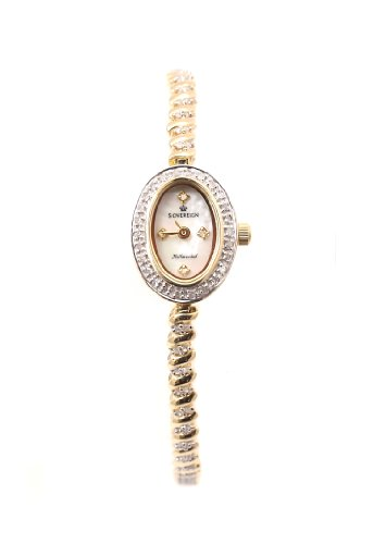 Sovereign 9ct Gold 1/4ct Diamond Watch W0422