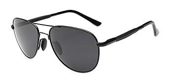 Outray Men's Aviator Polarized Sunglasses A08 Black/Grey