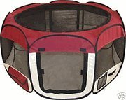 Large Burgundy Pet Tent Exercise Pen