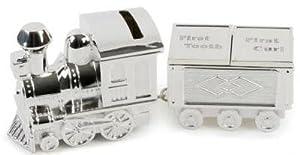 Lime Shop - Caja para dientes de leche y mechones de pelo (metal, bañada en plata), diseño de tren por LIME SHOP