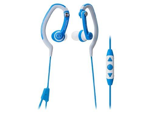 audio-technica カナル型イヤホン iPod/iPhone/iPad専用 防水仕様 スポーツ向け ブルー ATH-CKP200i BL