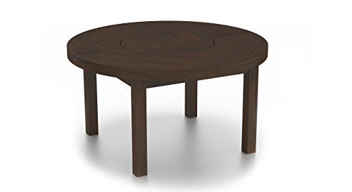 Urban Ladder Nashville Six Seater Round Dining Table with Lazy Susan (Walnut)