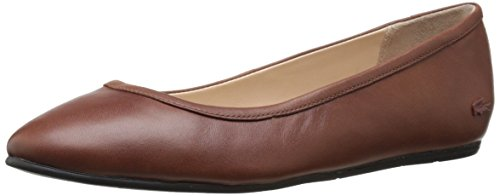 Lacoste Women's Cessole 4 Ballet Flat, Brown, 7 M US
