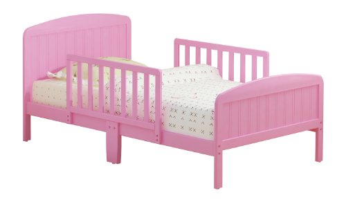 Russell Children Products Harrisburg Wood Toddler Bed, Pink