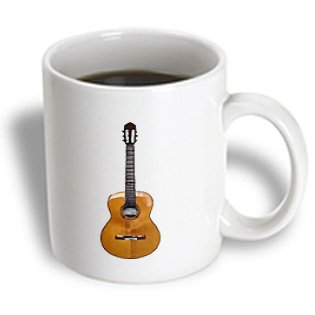 3Drose Classical Guitar Mug, 11-Ounce