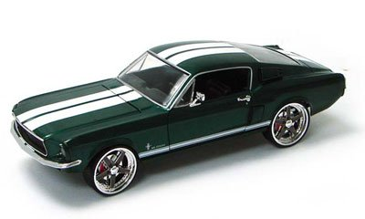 1967 Ford Mustang Fast And Furious 3 Tokyo Drift Diecast Model Car 1:18 Scale Die Cast By Ertl - Green 53611A front-831217