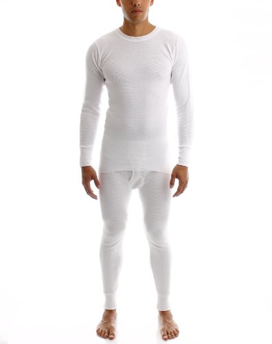 Noble Mount Mens Smooth Comfort Itch-Free Dual Face Fleeced Extreme Cold Performance Thermal Top and Bottom Set