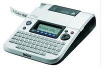 Brother PT-1830VP - Impresora de etiquetas (Térmica directa, 180 x 180 DPI, 10 mm/seg, 347 carácteres, TZ, Manual) Negro, Plata
