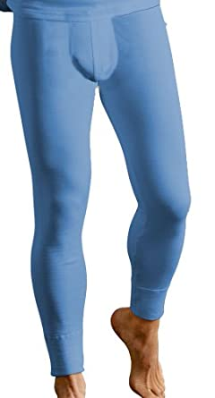 Socks Uwear® Mens Base Layer Warm Thermal Long John Underwear Ski Small Blue