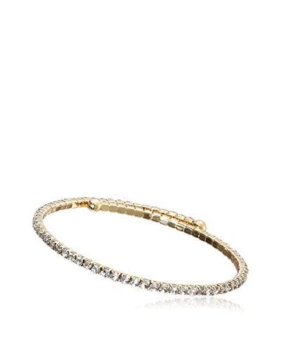Riccova WTBT284B-GP Country Chic 14K Gold Plated Cubic Zirconia Tennis Snake Bangle