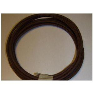 18 Ga Cotton Braided Wire, 10 Foot Section. Color: Brown