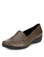 Footglove™ Leather Wide Fit Stitched Trouser Shoes