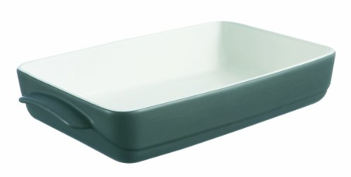 Pyrex Wave Stoneware Rectangular Roaster-30 X 20Cm-Black