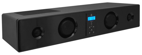 Pyle Psbv100 Pylehome 5-Way Soundbar System With Fm Radio, Srs 3D Sound And Four Auxiliary Inputs (Piano Black)