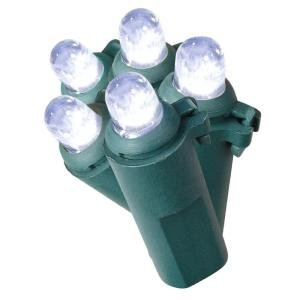 #!Cheap LED Cool White Christmas Lights, 50 Bulbs