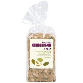Amisa Organic Spelt Cheese Pumpkinseed Crispbread - 200g