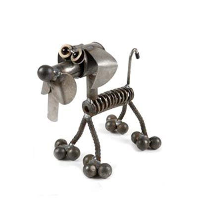 Valve Spring Dog Recycled Metal Sculpture