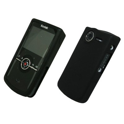 Discount Empire Black Silicone Cover Case Kodak Zi8 Pocket Video