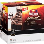 Folgers Gourmet Selections Mocha Swirl Coffee K-Cup Packs, 0.31 Oz, 18 Count(Case Of 2)