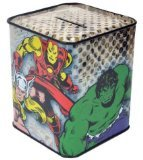 Marvel Comics Superheroes Tin Bank [Toy] - 1