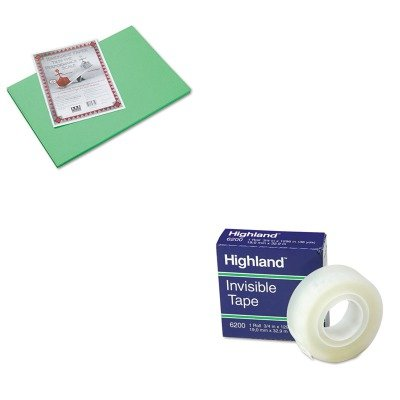 KITMMM6200341296PAC103620 - Value Kit - Pacon Riverside Construction Paper (PAC103620) and Highland Invisible Permanent Mending Tape (MMM6200341296) kitmmmc214pnkunv10200 value kit scotch expressions magic tape mmmc214pnk and universal small binder clips unv10200