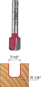 Freud 19-102 7/16-Inch Diameter Dish Carving Router Bit with 1/4-Inch Shank