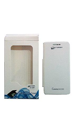 Micromax Canvas 2 A120 Flip Cover - White
