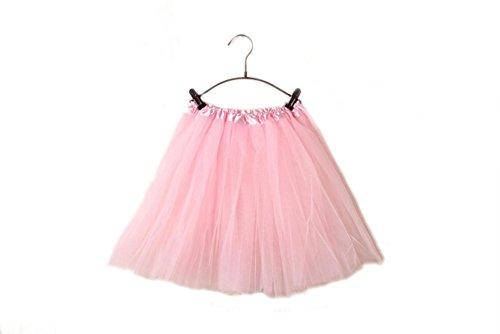 DELEY Donne Adulti Classico Balletto vita elastica Strato maglia mini tutu gonna, Luce Rosa, Free Size