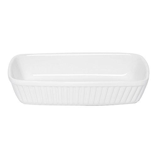 Excelsa Grande Forno Pirofila Rettangolare, Grande, Ceramica, Bianco, 28.0 x 22.0 cm