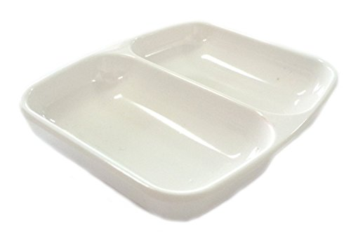 Melamine 2 Compartment Soy Sauce Dish 3 X 3.4 Inch (6 Pack) (Mini Sauce Dish compare prices)