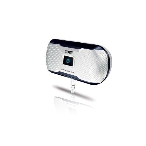 Coby Electronics CS-MP23 MP3 Portable Mini Stereo Speaker System (White)