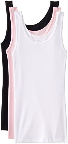 Fruit of the Loom Women's 3 Pack Cotton Tanks, Assorted, 7/Large
