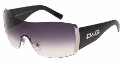 New Dolce & Gabbana D&G 8039 501/8G Black Sunglasses Gradient Gray Lens Size: 31-01-130