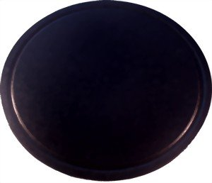 Brotbackstein, Pizzastein, Heißer Stein, Grillstein aus glasiertem Cordierit 350x20mm mit Saftrille