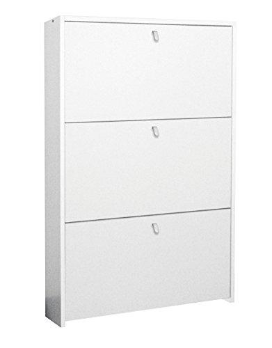 Scarpiera ECO 3 cassetti cm 67 Salvaspazio - bianca