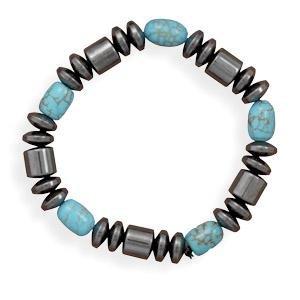 Turquoise+stretch+bracelet