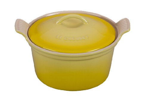 Le Creuset Heritage Stoneware Covered Cocotte, 18-Ounce, Soleil