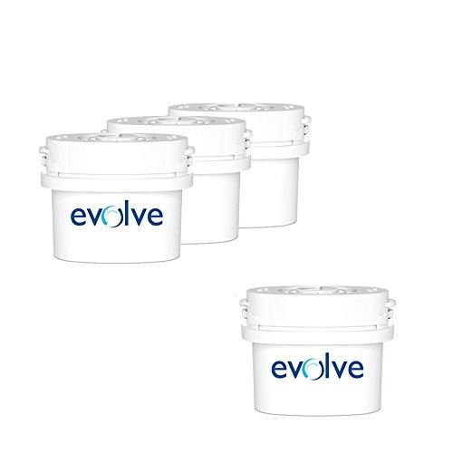 Aqua Optima - Pack de 3+1 cartouches filtrantes Evolve - Compatibles Brita Maxtra