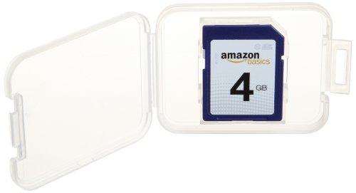 AmazonBasics SDHC Class 10 4 GB Secure Digital Card