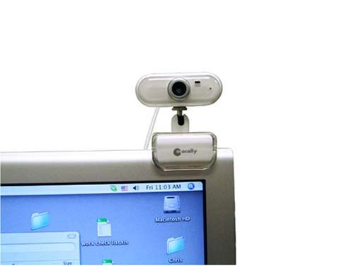 Macally ICECAM2 USB 2.0 Video Web Camera with Built-in Microphone (White)