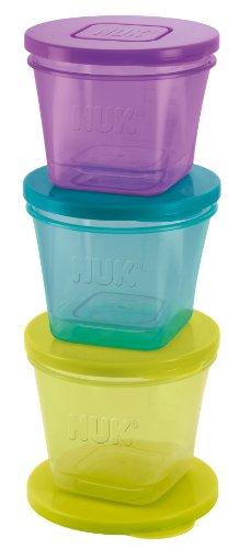 NUK 10255183 Fresh Foods Frischebehälter, zur Aufbewahrung von Babynahrung, in 3 Größen