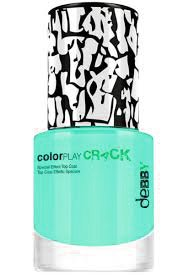 "Debby ColorPlay Crack Top Coat Decorativo Effetto ""Crack"" Tonalità 17 Verde Acqua"