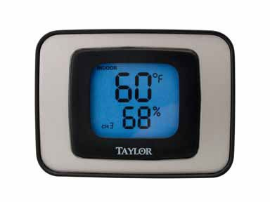 Taylor Thermometers #1523 Indoor/Outdoor Thermometer & Humidity Guide