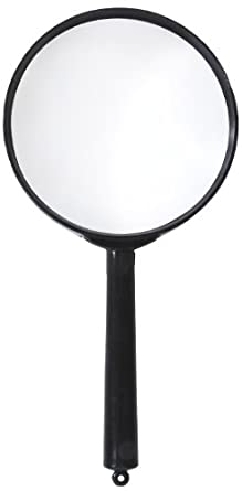 "American Educational Plastic Frame Magnifier with Black Handle, 3X Magnification, 2"" Diameter (Bundle of 10)"