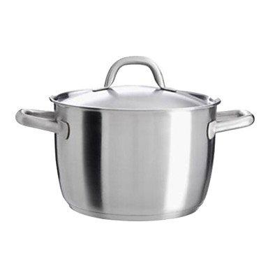 6.5 QT Stainless Steel Stock pots L23cm x W23cm x H15cm