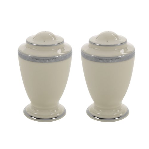 Lenox Tuxedo Platinum Salt and Pepper Set, Ivory