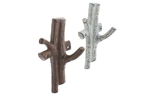 """Cast Iron Branch Wall Hook 