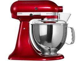 KitchenAid Artisan Mixer , Candy Apple Steel Bowl by Kitchenaid