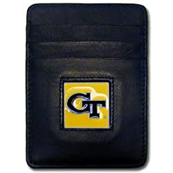 NCAA Georgia Tech Yellowjackets Leather Money Clip/Cardholder